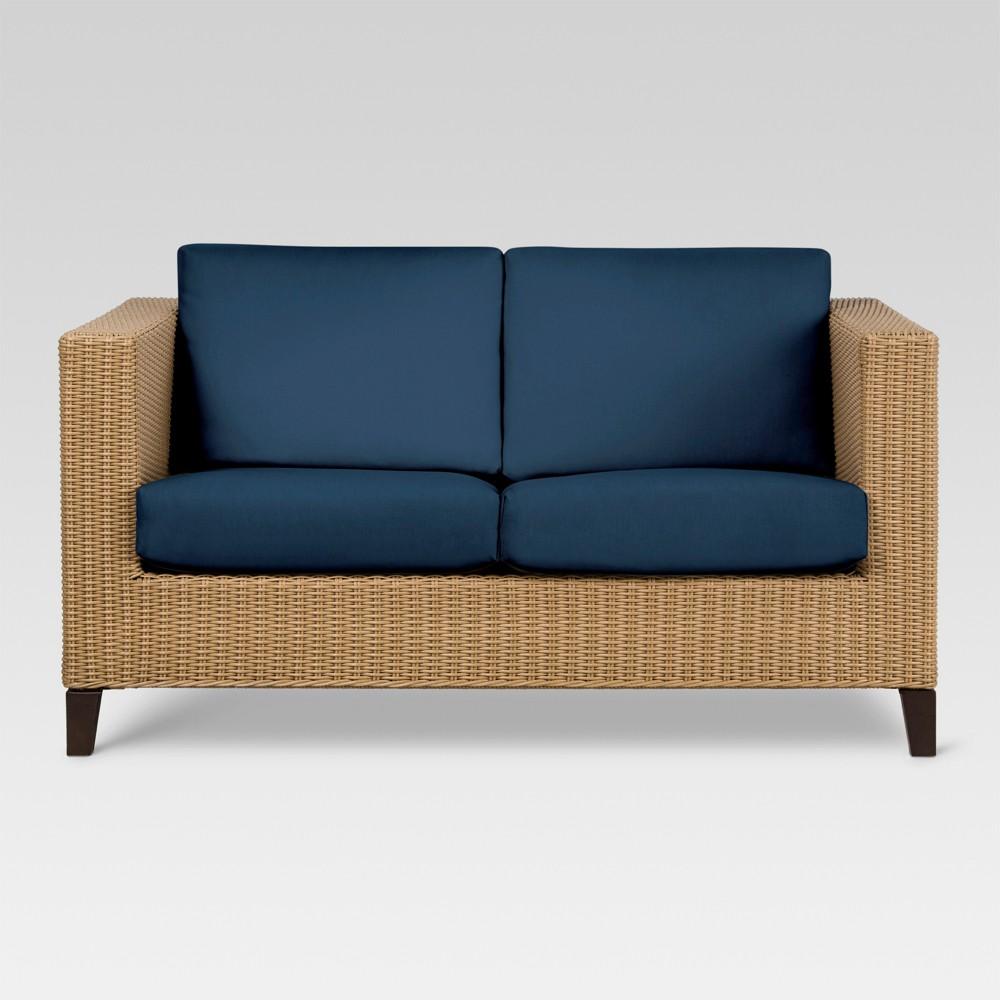 Fullerton Wicker Patio Loveseat - Navy (Blue) - Project 62