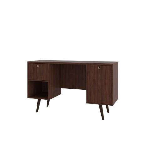 Edgar 1 Drawer Mid Century Office Desk - Manhattan Comfort - image 1 of 3