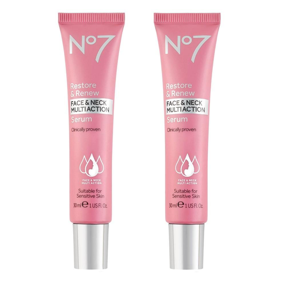 No7 Restore & Renew Face & Neck Multi Action Serum - 1 fl oz - 2ct
