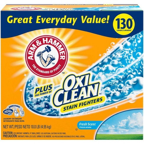 Arm & Hammer Plus OxiClean Powder Laundry Detergent - Fresh Scent - 10lbs - image 1 of 3