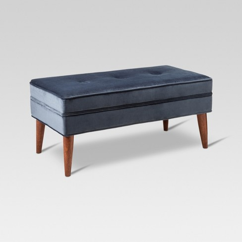 Amherst Mid Century Modern Bench Midnight Blue - Threshold™ - image 1 of 5
