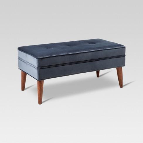 1c6704f3653e1 Amherst Mid Century Modern Bench Midnight Blue - Threshold™   Target