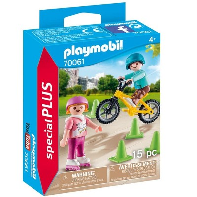 Playmobil Children with skates and bike