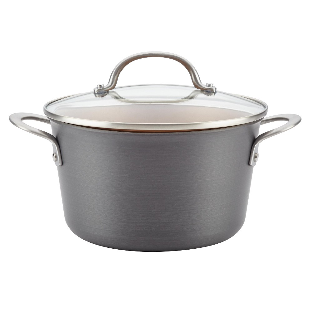 Image of Ayesha Curry 4.5qt Home Collection Hard Anodized Aluminum Covered Saucepot, Gray