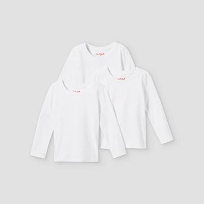Toddler Girls' 3pk Solid Long Sleeve T-Shirt - Cat & Jack™ White