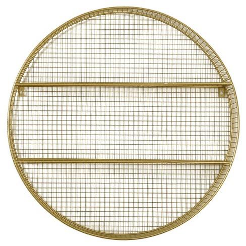 Metal Circle Shelf Gold - Pillowfort™ - image 1 of 2