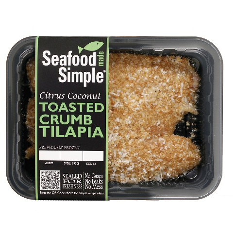 Seafood Made Simple Citrus Coconut Toasted Crumb Tilapia -9oz - image 1 of 1