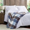 "60""x70"" Breathable and Stylish Soft Plaid Throw Blanket - Yorkshire Home - image 3 of 4"