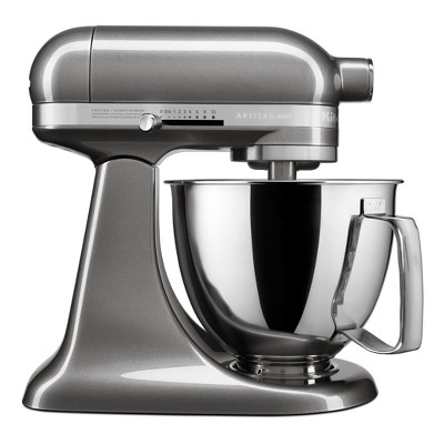 KitchenAid Refurbished Artisan Mini 3.5qt Tilt-Head Stand Mixer Dark Silver - RKSM33XXMS