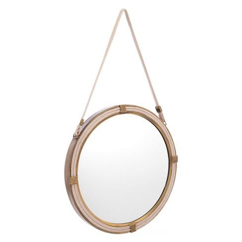 """ZM Home 20"""" Coastal Round Mirror Brass - image 1 of 2"""