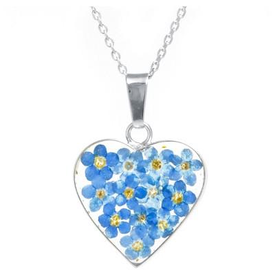 Fashion Statement Necklace Sterling Blue