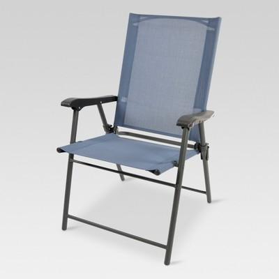 Folding Sling Patio Chair - Dark Blue - Threshold™