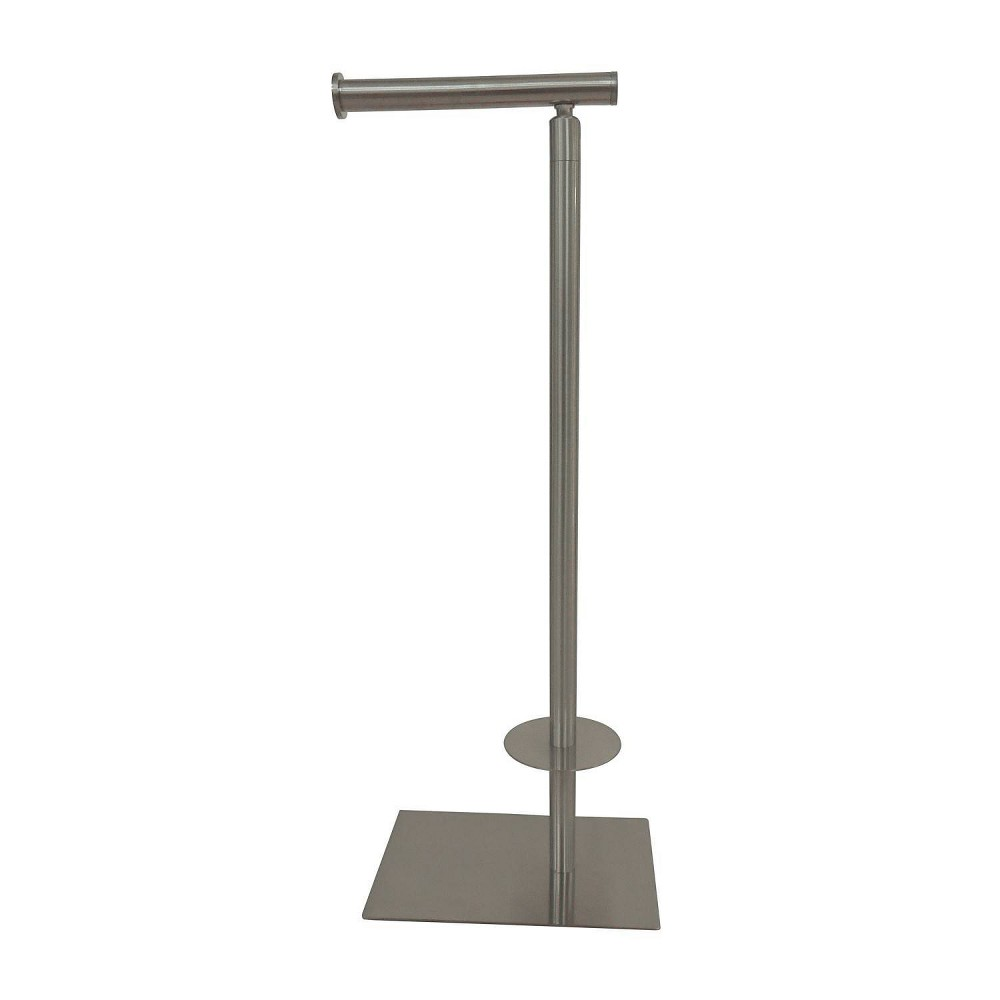 Image of Claremont Freestanding Toilet Paper Stand Brushed Nickel - Kingston Brass