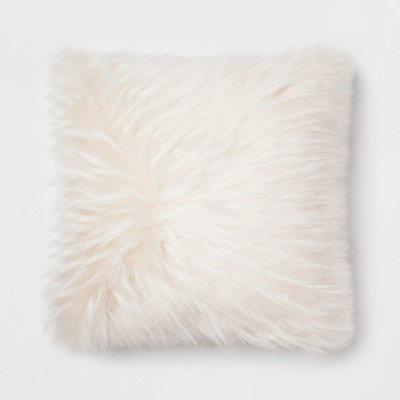 Cream Faux Fur Throw Pillow - Project 62™