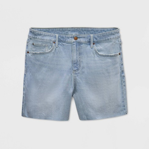 Women's Plus Size Boyfriend Jean Shorts - Universal Thread™ Light Wash 24W - image 1 of 2