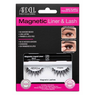 Ardell Magnetic Liquid Liner & Wispies Lash Kit - 3pc