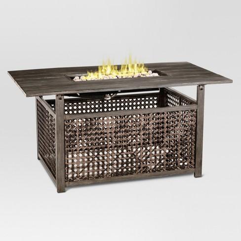 """Fabron 54"""" Rectangle LP Gas Fire Table - Threshold™ - image 1 of 5"""