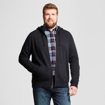 Men's Big & Tall Hooded Fleece Sweatshirt - Goodfellow & Co™ Black