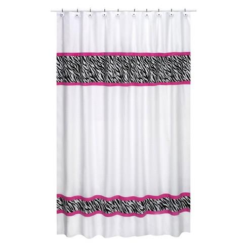 Zebra Shower Curtain Pink