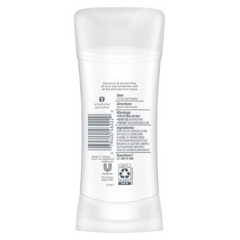 Dove Zero Aluminum Pomegranate & Lemon Verbena Deodorant - 2 6oz