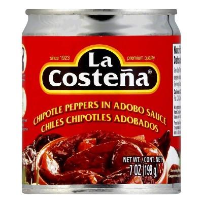 La Costena Chipotle Peppers in Adobo Sauce - 7oz