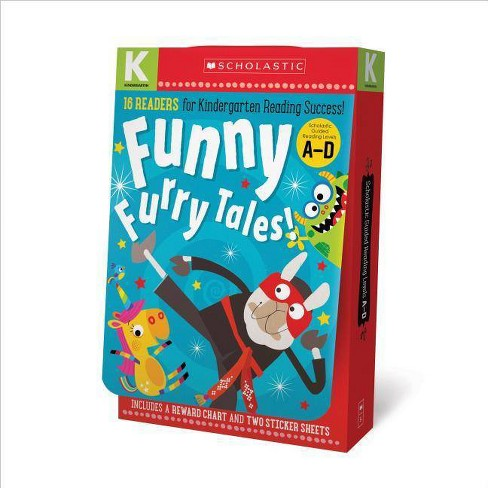 Funny Furry Tales A-D Kindergarten Reader Box Set: Scholastic Early Learners (Guided Reader) - (Mixed Media Product) - image 1 of 1