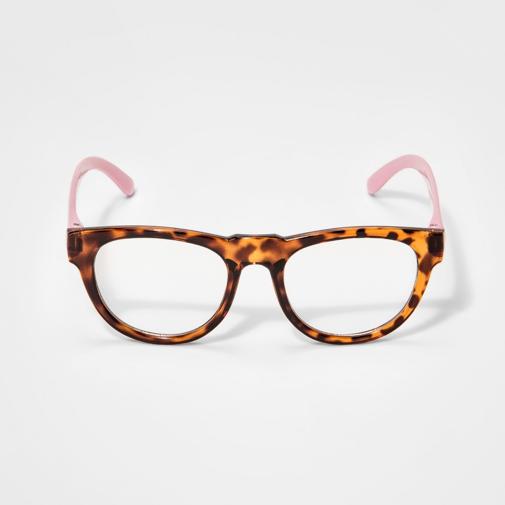 Image of Girls' Demi Reading Glasses - Cat & Jack Pink, Brown