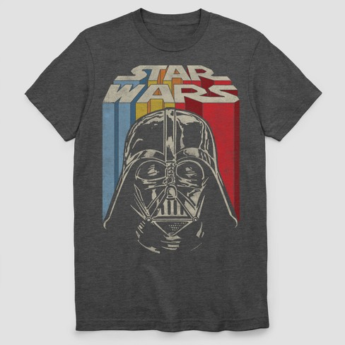 53ed3377e8a Men s Star Wars Vintage Vader Short Sleeve Graphic T-Shirt - Charcoal  Heather
