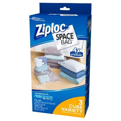 Superbe Ziploc Space Bag 3ct Cube Bags: 1L, 2XL : Target