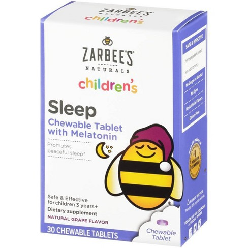 Zarbee's Naturals Children's Sleep with Melatonin Chewable Tablets - Natural Grape - 30ct - image 1 of 4