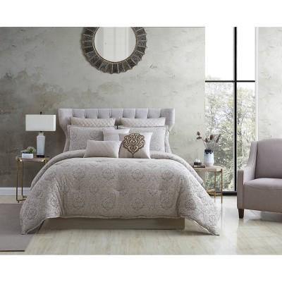 King 10pc Kenetic Comforter Set Tan - Riverbrook Home