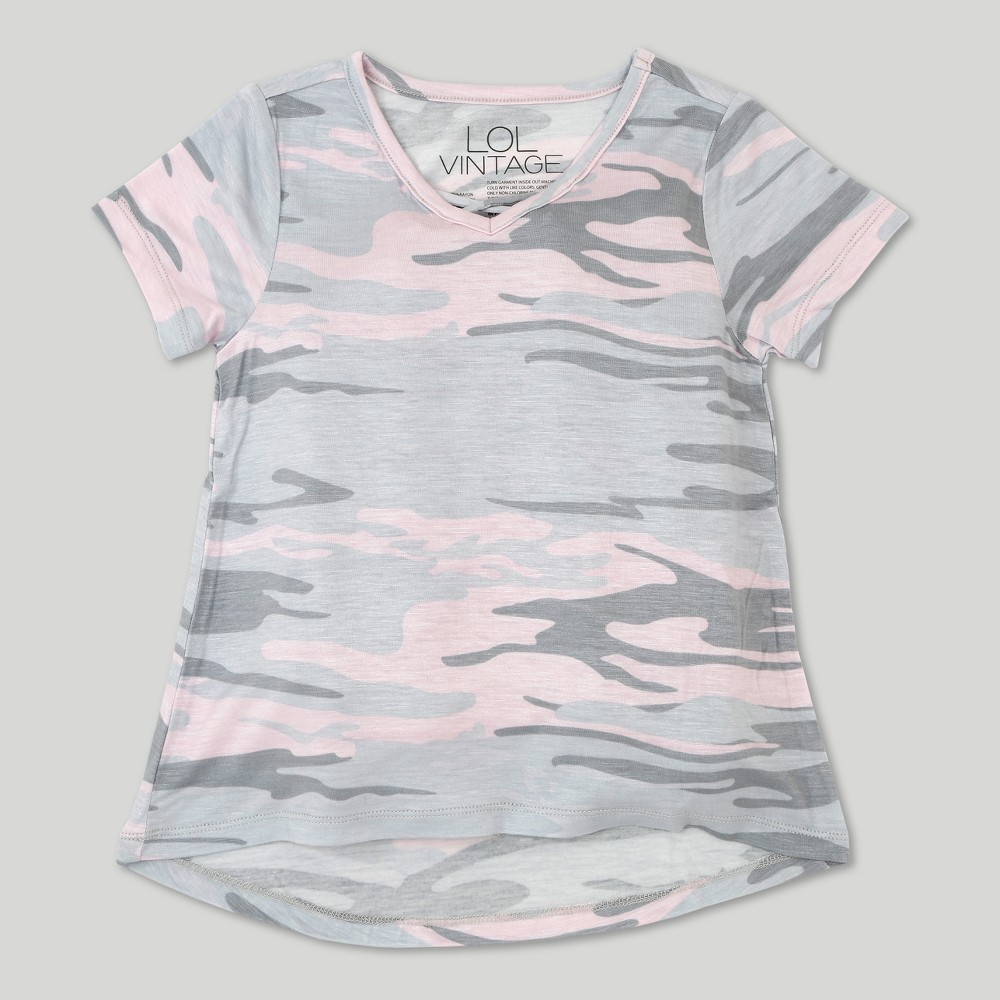 Toddler Girls' L.O.L. Vintage Short Sleeve T-Shirt Tonal Camo 18 Months, Size: 18M, Multicolored