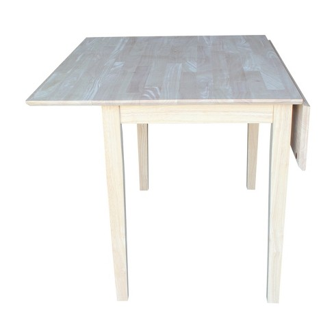 Dual Drop Leaf Square Dining Table Unfinished International