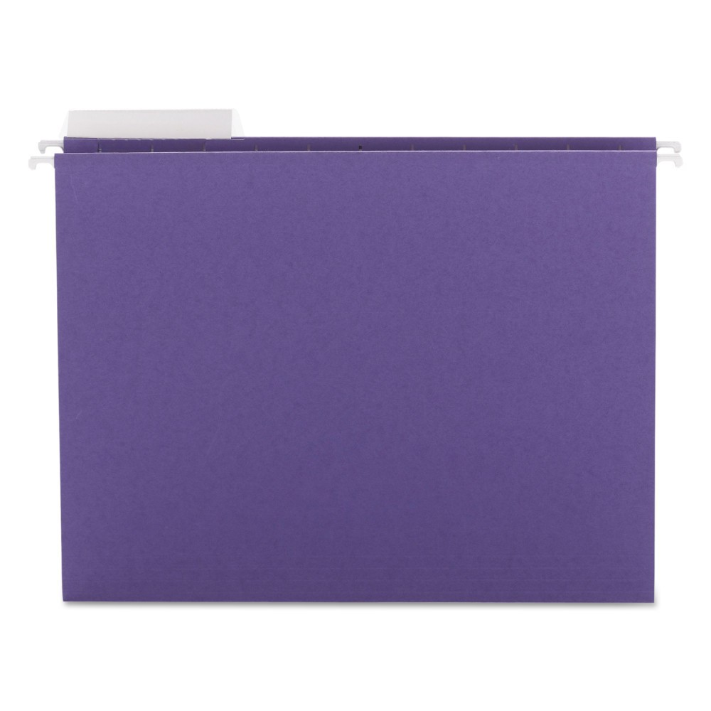 Color Hanging File Folders 1/3-Cut Tabs Purple 25ct