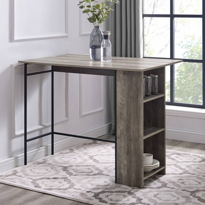"""48"""" Counter Height Drop Leaf Table With Storage - Saracina Home : Target"""