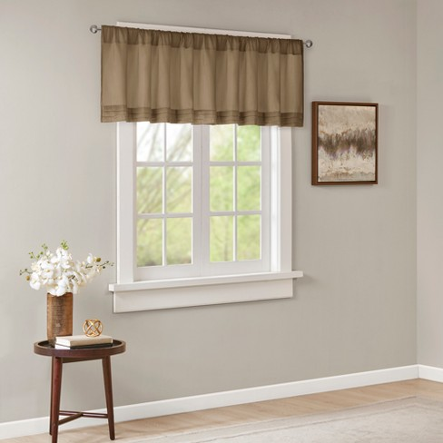 Viola Faux Silk Solid Pleated Valance - image 1 of 4