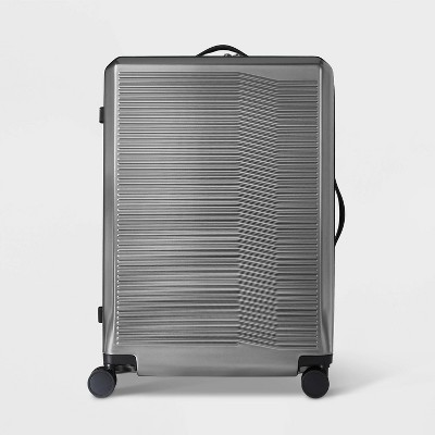 """Hardside 29"""" Checked Suitcase Silver - Open Story™"""
