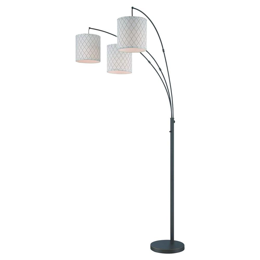 Lite Source Vasanti 3-LT Floor Lamp - Dark Bronze, Brown/Off White
