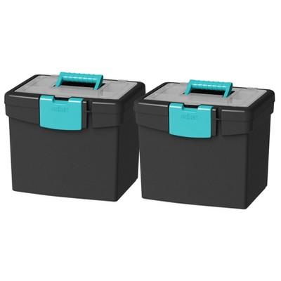Storex 2pk File Storage Box with XL Storage Lid