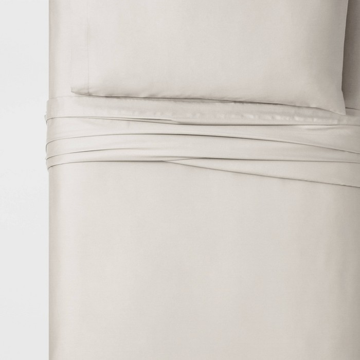Twin XL100% Cotton Solid Sheet Sets - Threshold™ - image 1 of 2