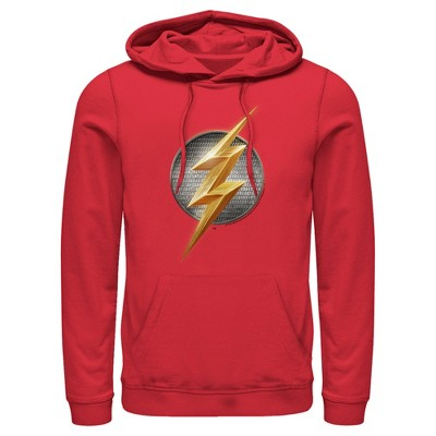 Men's Zack Snyder Justice League The Flash Logo Pull Over Hoodie
