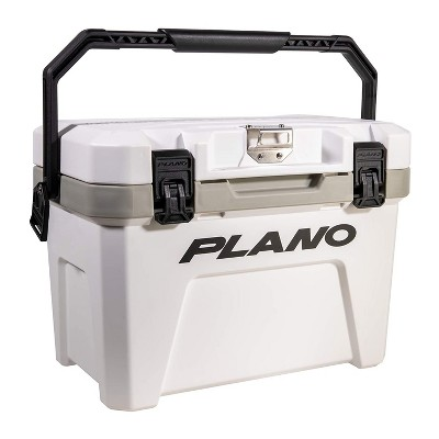 Plano Frost 14 Quart Heavy Duty Beverage Cooler with Built In Bottle Opener and Removable Dry Basket for Camping, Tailgating, Outdoor Events