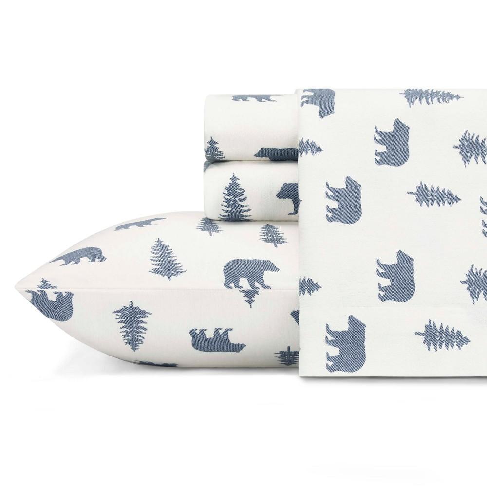 King Flannel Sheet Set Bear & Trees - Eddie Bauer
