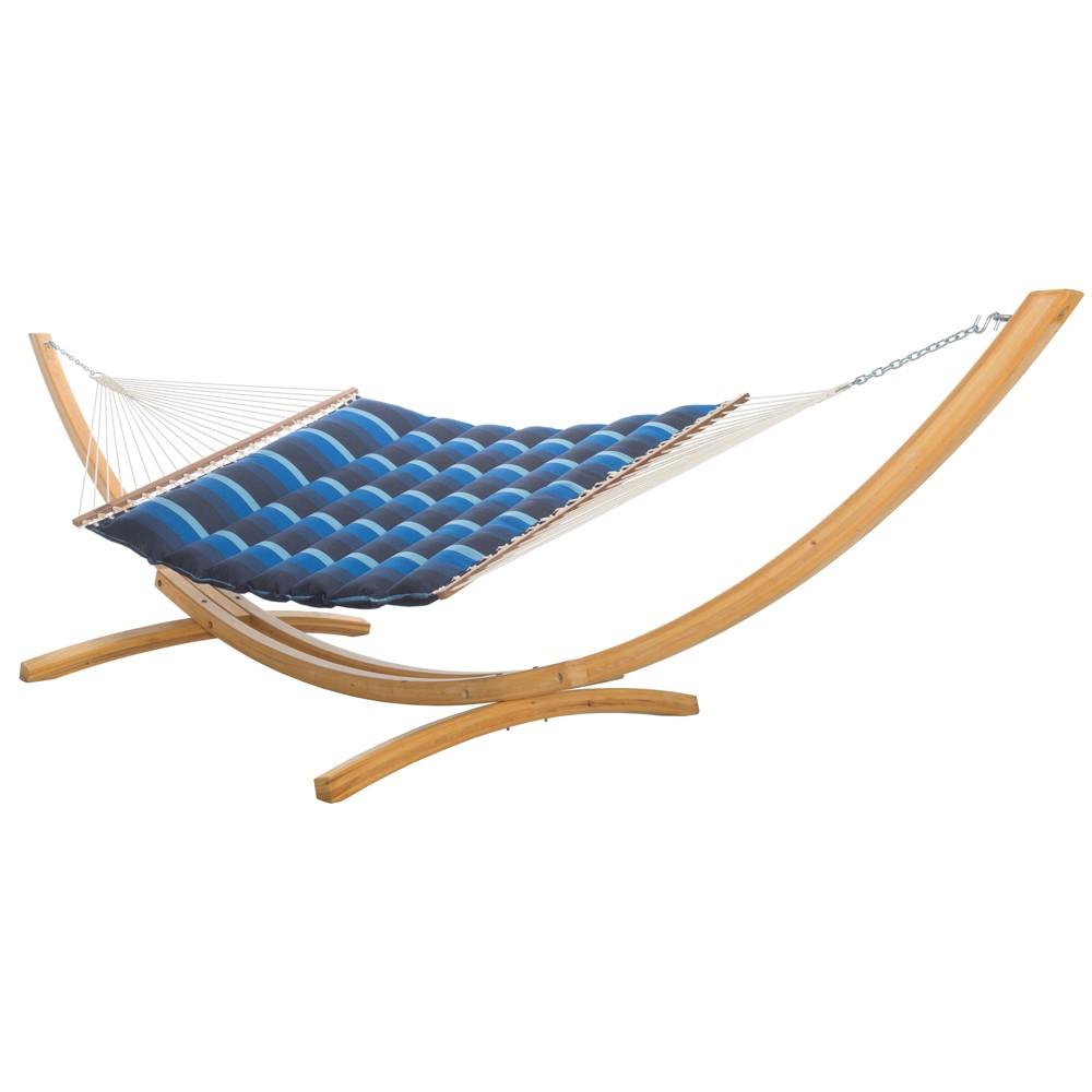 Image of Pillowtop Hammock - Navy Blue Stripe - Hatteras Hammocks