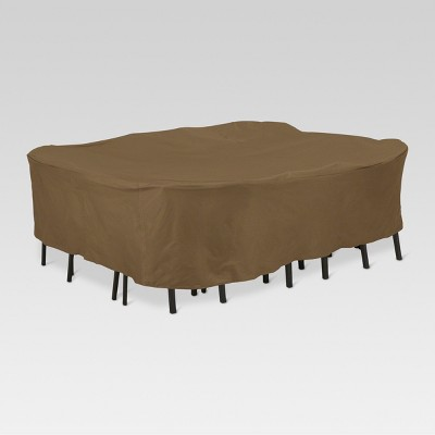 Polyester Square Table Set Cover 28  H - Brown - Threshold™