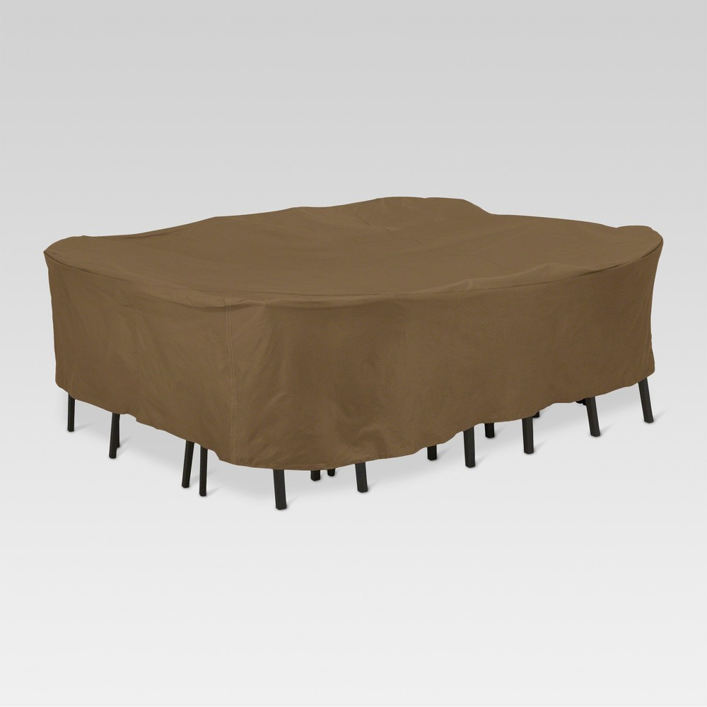 Polyester Square Table Set Cover 28 H - Brown - Threshold