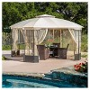 Westerly 13' x 13' Steel Patio Gazebo - Camel - Christopher Knight Home - image 2 of 4