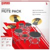 Evans SoundOff Drum Mutes Box Set, Rock 10,12,14,16,22 in.,hi-hat,and cymbal (2) Black - image 2 of 3
