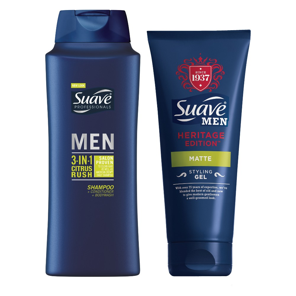 Suave 3-in-1 Citrus Rysh Shampoo + Conditioner + Bodywash