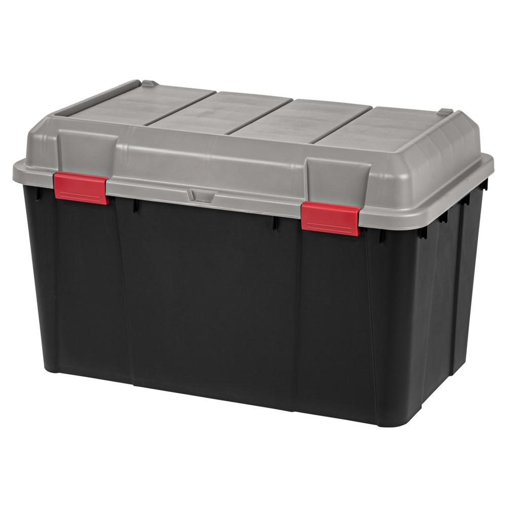 Image of Iris 138qt Plastic Storage Trunk, Black